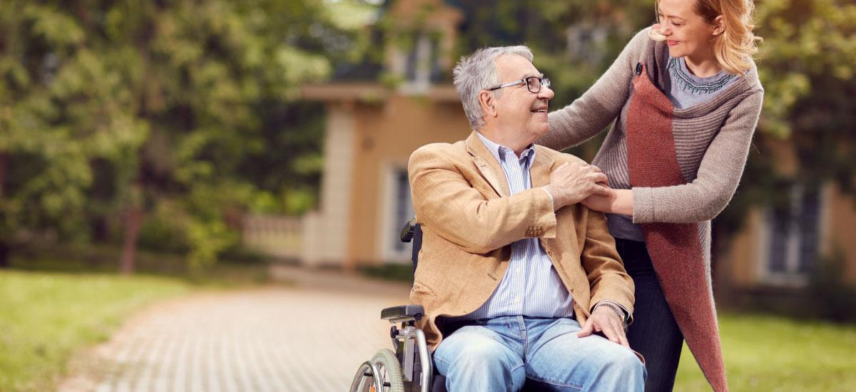 Man in wheelchair leaving care home to live back at home