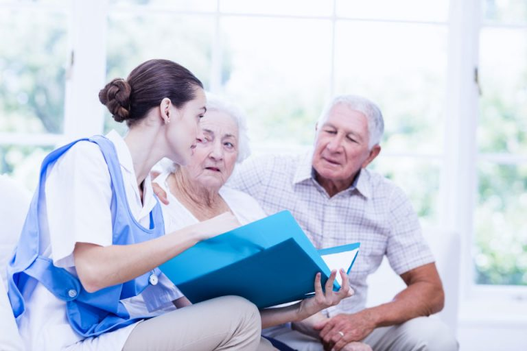 Qualified carer providing live-in care to elderly couple so they can stay at home